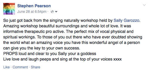 Singing Workshops Brighton